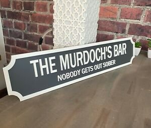Personalised Vintage Style Street Sign Bar Indoor Outdoor Acrylic 3D Sign