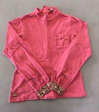 KENZO Splendide Tee-shirt Vieux Rose Manches À Pois 10 Ans TBE