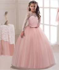 Communion Party Prom Princess Pageant Bridesmaid Wedding Flower Girl Dress o125