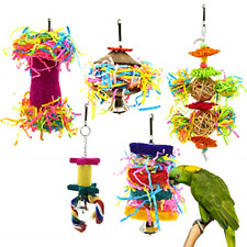 5Pcs Bird Shredder Toys Small Parrot Chewing Toys Bird Foraging Hanging Toys .