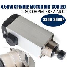 4.5KW ER32 Luftgekühlter Spindelmotor CNC Fräsmotor 9.5A 18000RPM 380V 300Hz DE