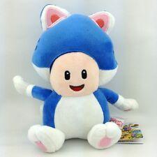 "Super Mario Bros 3D World Cat Toad Blue Suit Soft Plush Toy Stuffed Animal 7.5"""
