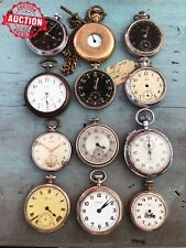 LOT 12 x Vintage Pocket Watches - Watchmaker's Estate - No Reserve Auction