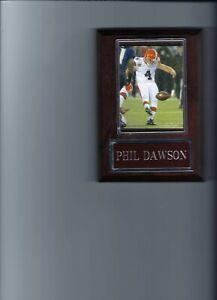 PHIL DAWSON PLAQUE CLEVELAND BROWNS FOOTBALL NFL