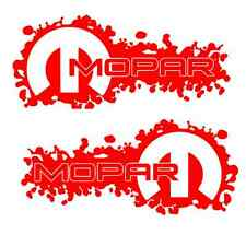 2 RED Mopar Decals Sticker dodge jeep ram 1500 2500 4x4 hemi 4x4 3500