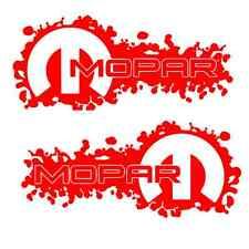 2 RED Mopar Decals Sticker dodge jeep ram 1500 2500 4x4 hemi 4x4 3500