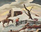 Thomas Hart Benton Journeys End Canvas Print 16 x 20