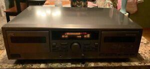JVC TD-W209 Double Cassette Deck Dual Tape Dolby B-C NR HX Pro Auto Reverse DDRP