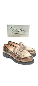 PARABOOT ORSAY LOAFERS 37 EU UK 4 US 5.5 LEATHER GLOSS SHOES WORLDWIDE SHIPPING!