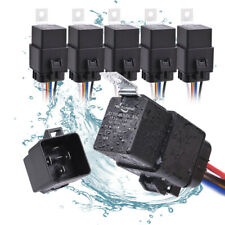 5pcs Waterproof 12V 5-PIN SPDT 40/30 Amp Relay Harness Pre-wired Set Automotive