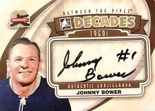 11-12 itg btp decades 50s johnny bower maple leafs goaliegraph autograph auto