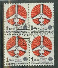 Tschechoslowakei Briefmarken 1983 Fluggesellschaft CSA  4er Mi.Nr.2728