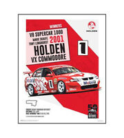 "HOLDEN COMMODORE VX POSTER - V8 SUPERCAR 1000 2001 - 50 x 40 cm 20"" x 16"""