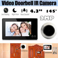 4.3'' 145° LCD HD Digital Video Door Viewer Peephole Doorbell Door Eye IR Camera