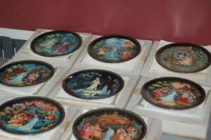 Russian legends search for the snowmaiden full set 8 boxed plates