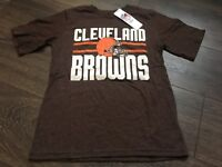 B34 New with Tag Cleveland Browns t-shirt boys medium 8-10 texture