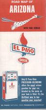 1961 El Paso Natural Gas Products Road Map: Arizona NOS