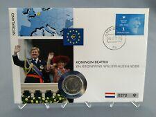 2 Euro Numisbrief Niederlande - Königin Beatrix und Kronprinz Wilhelm 2013