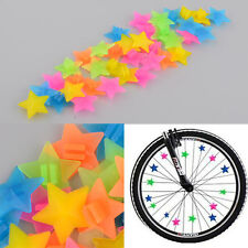 New Beautiful 36Pcs Colorful Colored Multi-color Bike Spoke Stars Beads