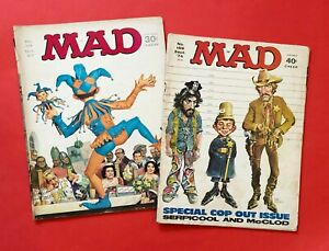 LOT OF 2 VINTAGE MAD MAGAZINES Nos 114 ( OCT 67) + 169 (SEPT 74)