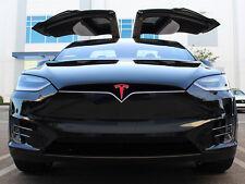 "Tesla Model X Nose Cone Front Emblem ""T"" Decal Sticker - Matte Red"