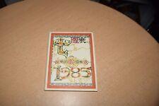Keisuke Serizawa Calendar 1985 Original and Complete Small Printed Ver. Japan
