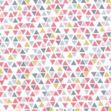 Michael Miller Bird Buddies CM7622 Peach Pyramids BTY Cotton Fabric