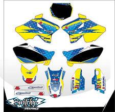 KIT ADESIVI GRAFICHE race SUZUKI RM 125 250 2002 2003 2004 2005 2006 2007 2008