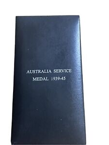 WW2 Australian Service Medal Original Named 1939-45