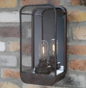Industrial Wall Light Mirror Black Indoor Lighting Battery Powered Vintage Lamp