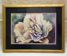 """""""PEONIES"""" Original Water Color Painting, Artist Signed, Gold Frame 23"""" x 29"""""""
