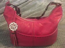 BRIGHTON Berry Leather Hobo Handbag Purse Bag-GORGEOUS!