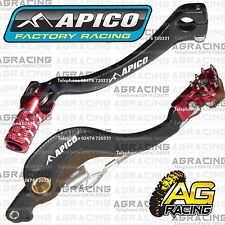 Apico Black Red Rear Brake & Gear Pedal Lever For Honda CRF 450R 2005-2007 MotoX