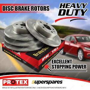 Protex Front +Rear Disc Brake Rotors for Land Rover Defender 110 130 Range Rover