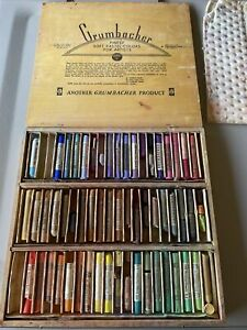 Grumbacher Series 11-60 Pastels Used HTF Rare Made In USA Set 5