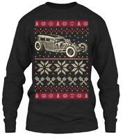 On trend Hot Rod Christmas Ugly Sweater Gildan Gildan Long Sleeve Tee T-Shirt