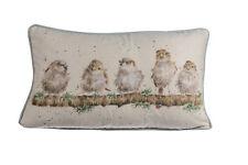 Wrendale Designs - Cushion 50cm X 30cm - Chirpy Chaps - Birds