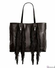 SILPADA F0001~Dakota Handbag ~ Black Leather with Suede Fringe
