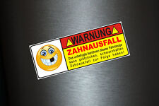 1 x Aufkleber Zahnausfall Smiley Autoaufkleber Kleber Sticker Tuning Auto Bus