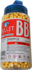 1 Tub of 2000 Yellow 0.15g Plastic 6mm BB Gun Pellets - Fits most BB Guns - New