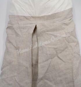 """Pottery Barn Belgian Flax Linen Soft Textured Bedskirt King 18"""" Drop Flax #1925G"""