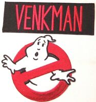 "Ghostbusters VENKMAN No Ghosts Logo Screen Accurate 4"" Patch Set of 2"
