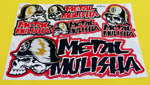 Großer Aufkleber Sticker METAL MULISHA Helm silber gold 265 x 170 mm       #027