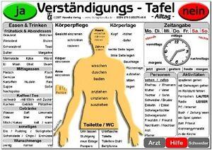 Verständigungs-Tafel - Alltag - Ideal zur Kommuniktion mit Sprachbehinderten