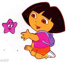 "4"" Dora & boots nick jr star set  prepasted wall border cut out character"