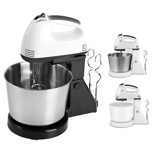 2 in 1 Stand Mixer 7-Speed 180W Electric Detachable Handle w/ Dough Hook Whisk