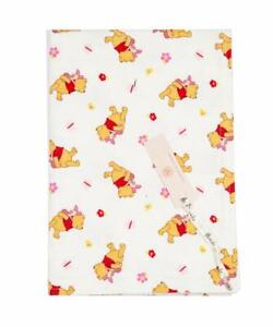Brushed Cotton Winnie the Pooh & Piglet & Flowers Baby Blanket-Size 60x42cm