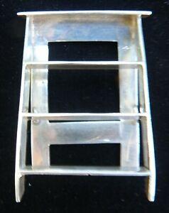 Miniature Victorian/Edwardian Monogrammed Silver Dollhouse Ladder