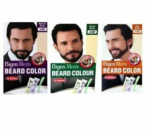 Bigen Mens Permanent Beard & Moustache Hair Colour Dye No Ammonia *New & Boxed*
