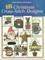 Better Homes and Gardens 101 Christmas Cross Stitch Designs Pattern Leaflet